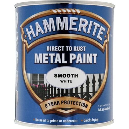 Hammerite Smooth White brush paint 750ml