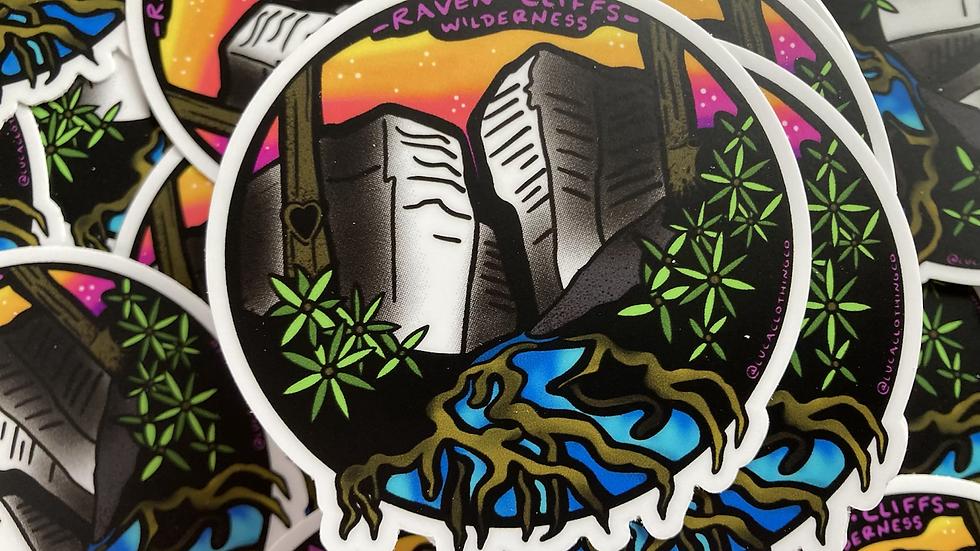 Raven Cliffs Wilderness vinyl sticker