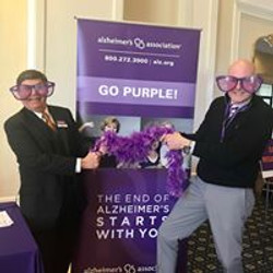 We went purple!