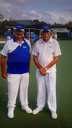 Jnr Pairs Winners Bruce Travers Ken Flas