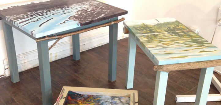 Handbuilt pine tables
