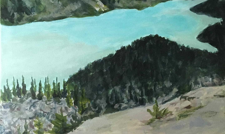 Return to Peyto Lake