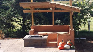 outdoor sofa fire pit and pergola