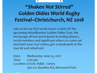 """Shaken Not Stirred"" Golden Oldies Tour 2018 First Social Event"