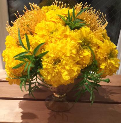 Marigolds and Pincushions.jpg