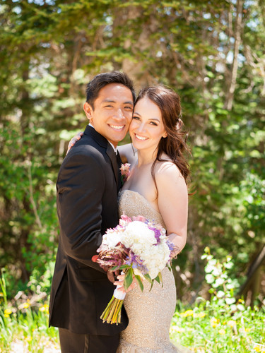 Laura Challman - Cute Photo of Bride and
