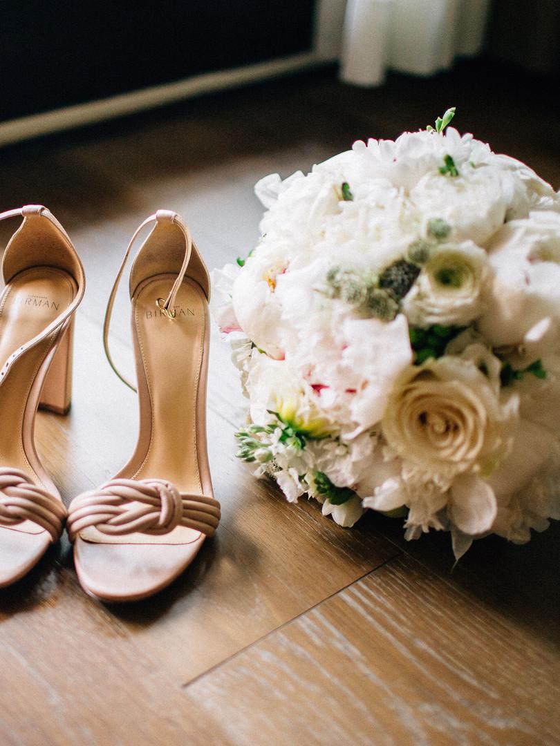 Shoes and Bouquet - AbieLivesayPhotograp