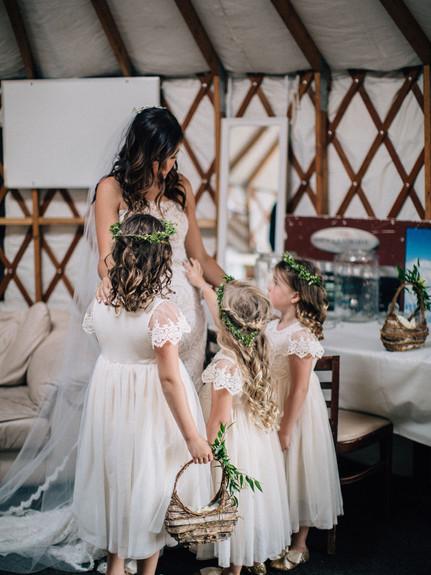 Bride and Flower Girls - AbieLivesayPhot