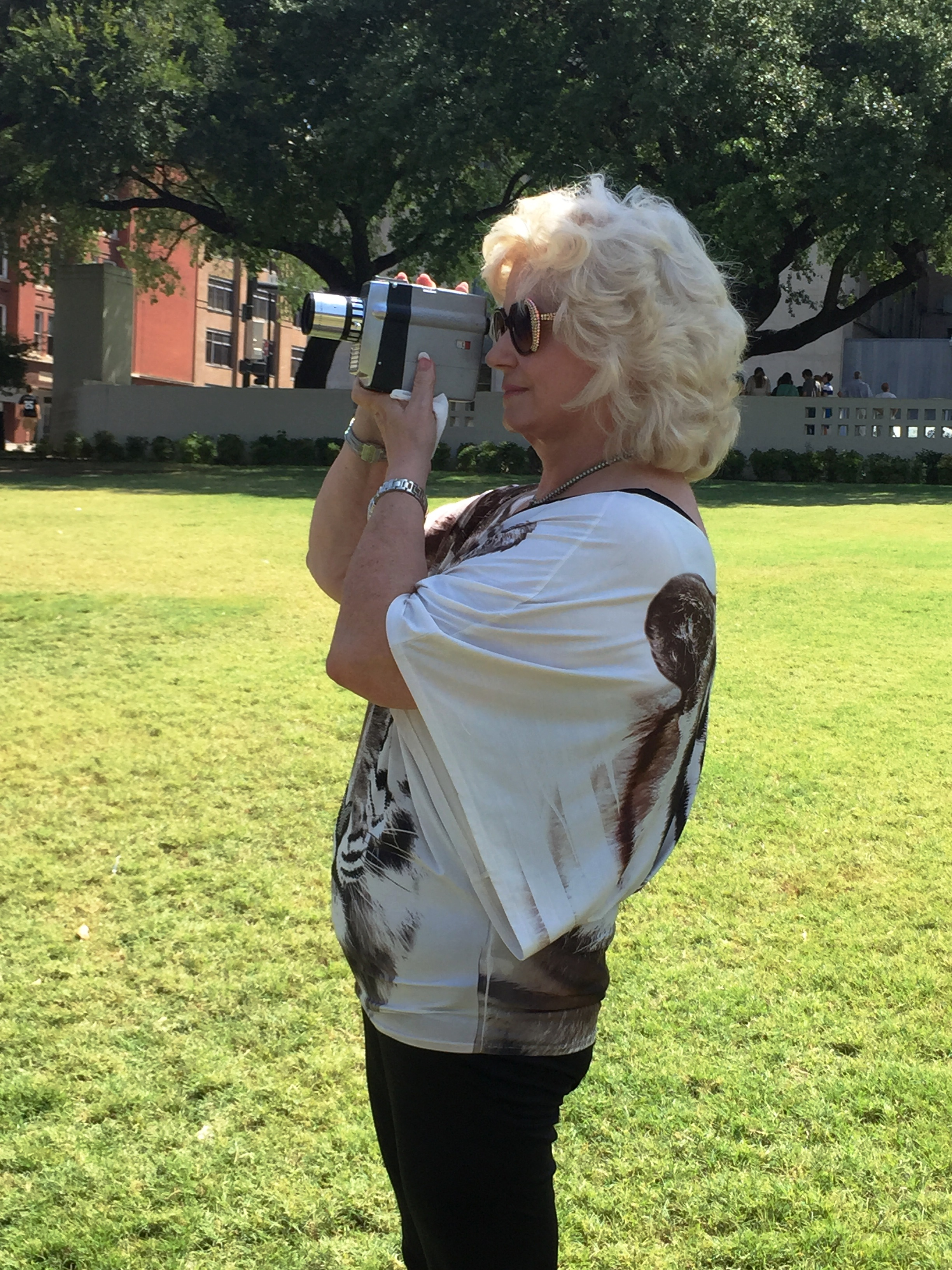 Beverly Oliver with replica camera