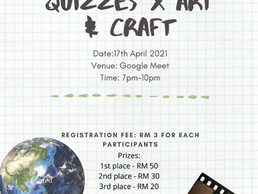Earth Day 2021 Quizzes x Art Craft