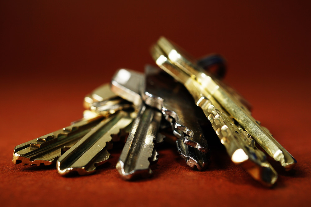 Das Objekt der Begierde. Unablässig für die Schlüsselübergabe: Schlüssel