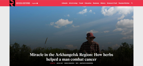Miracle in the Arkhangelsk Region: How herbs helped a man combat cancer