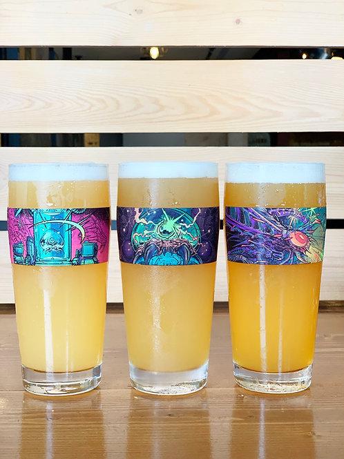 JELLYFISH PINT GLASS TRIO