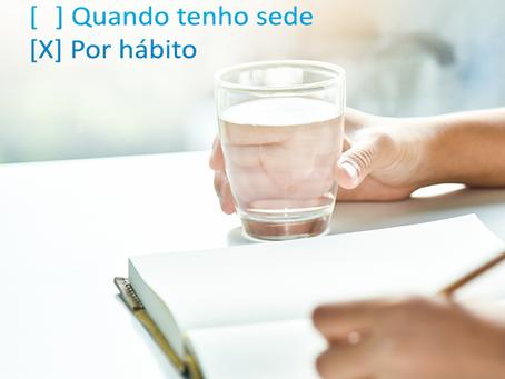 Beba água e cuide da sua saúde