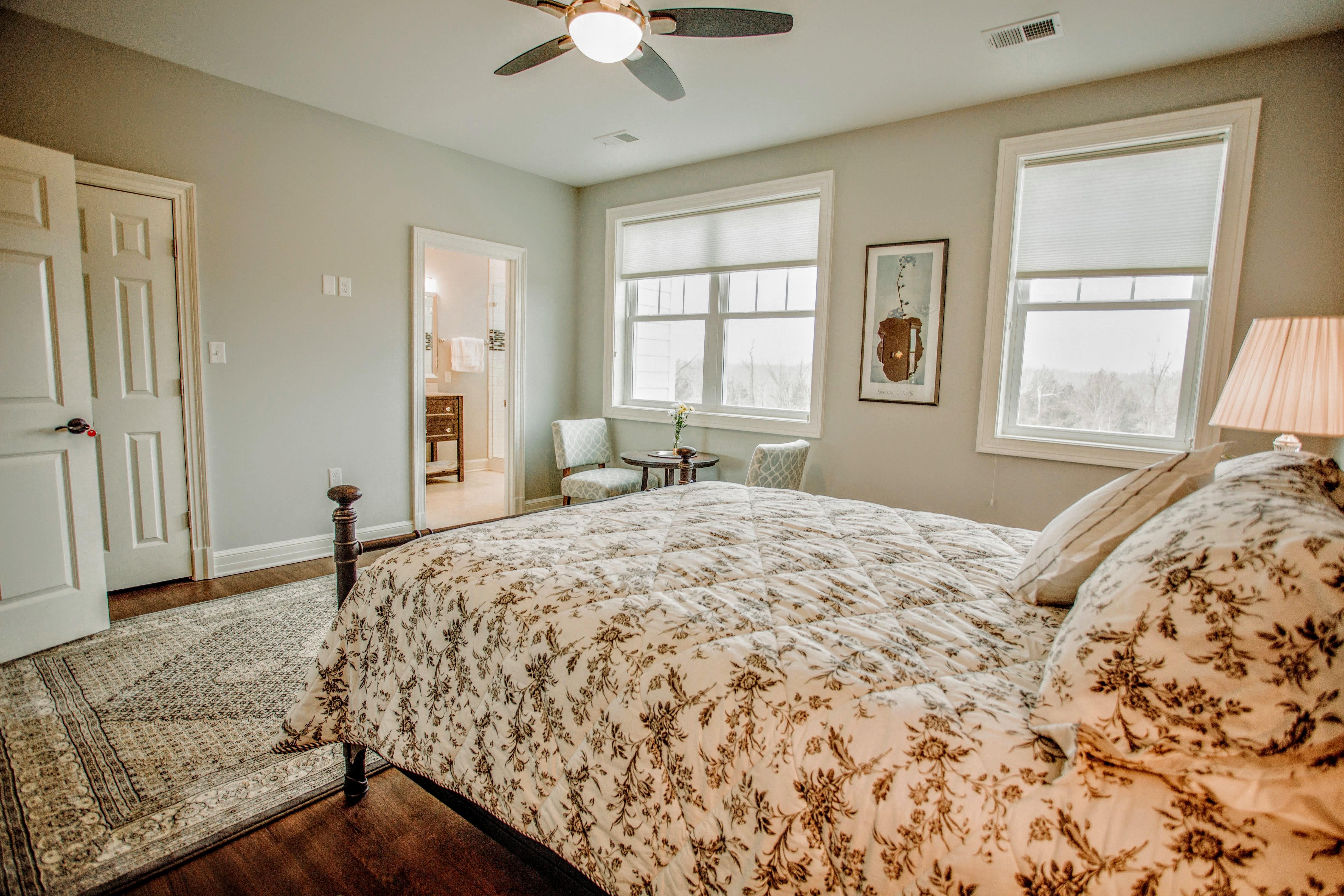 Bed corner view