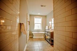 Bathroom long shot from inside showe