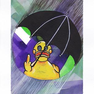 Bathing in the rain