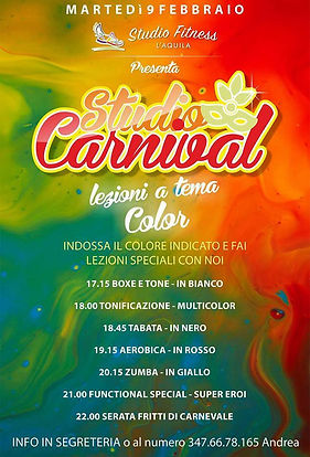 Evento color StudioFitness L'Aquila