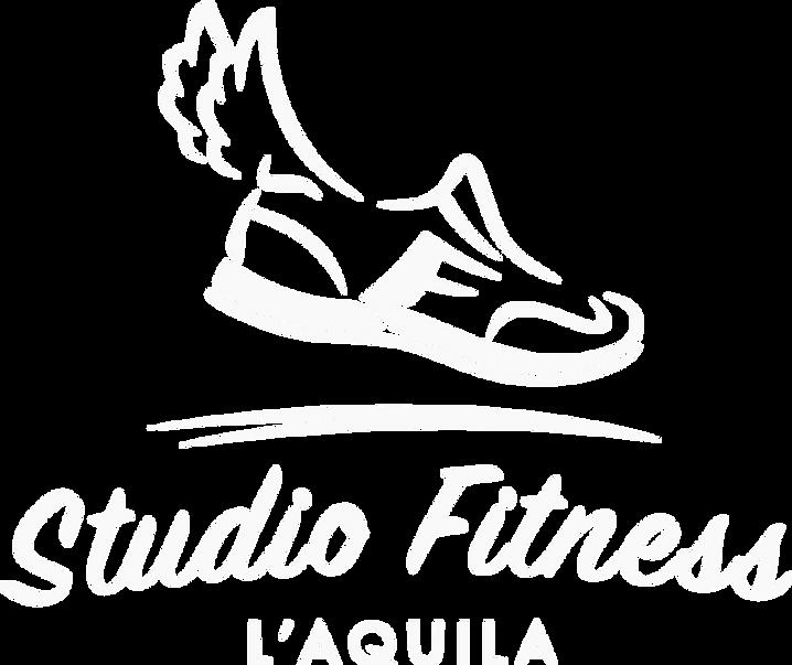 logo bianco studio fitness L'Aquila