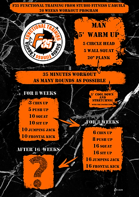 F35 bodyweight man workout