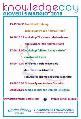 Evento Knowledge day StudioFitness L'Aquila