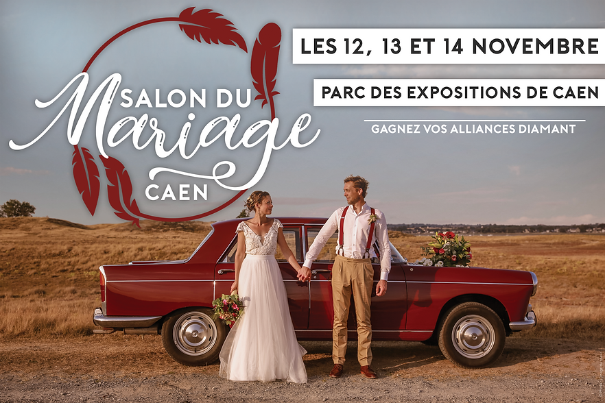 Affiche Salon du Mariage de Caen 2021 -