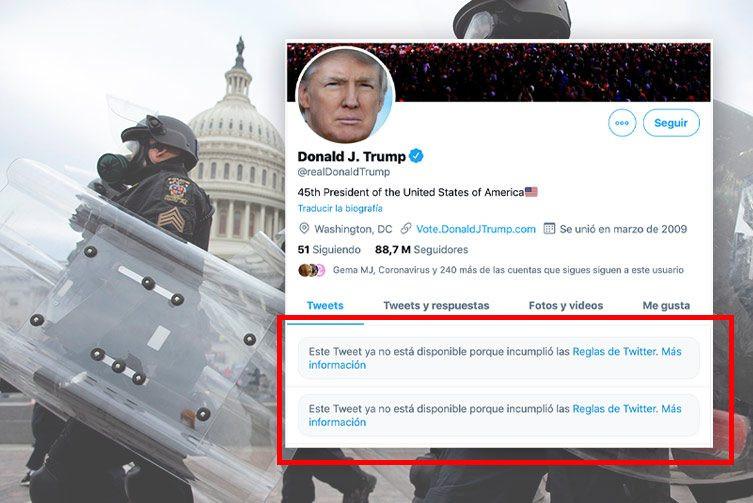 Facebook e Instagram bloquearán cuentas de Trump por lo que queda de su período presidencial