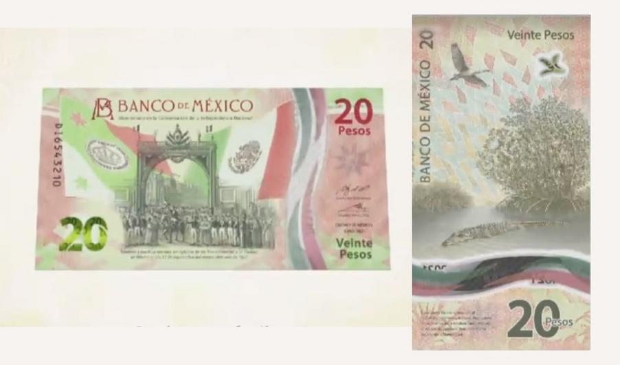NUEVO BILLETE DE $20 PESOS