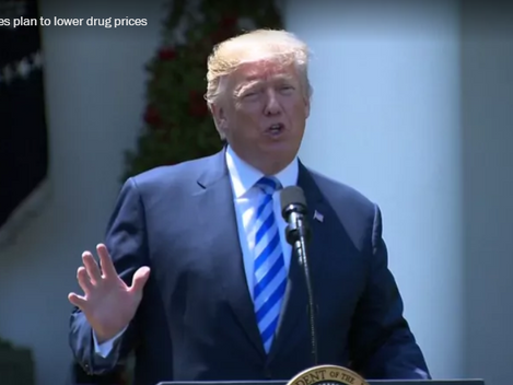 Trump sells out to the drug companies, according to Trump