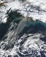 Satellite of Copper River Delta