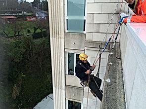 redes de protección para la caída de objetos en alero de santander