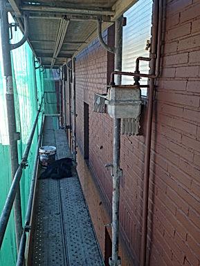 pintura de acabado en ladrillo visto, reparación de fachadas en torrelavega, impermeabilización de fachadas en santander.