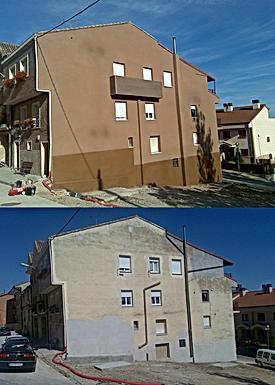 aislar fachadas sin necesidad de montar andamios y con sistemas de descuelgue vertical