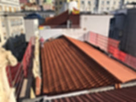 Rehabilitación de tejado con teja mixta, suministro y colocación de pesebrones de zinc y remates perimetrales de tejado en santander y torrelavega, Fachadas Cantabria -David Pérez tlf.630235845 ó 942819081 fachadascantabria@hotmail.com