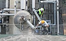 mantenimientos de limpieza en fábricas, limpieza de cubiertas, sustiucion de uralitas