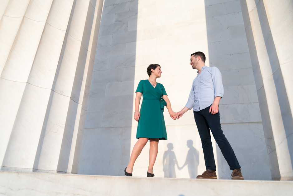 Kate and Joseph's Engagement photos in Washington, DC.