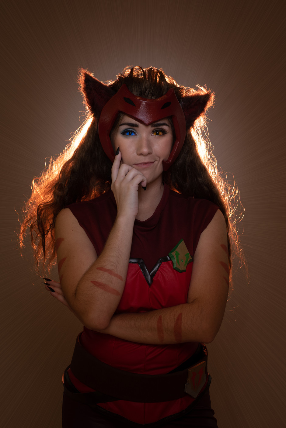 Cosplayer @indigomar.cosplay as Catra from Netflix's She-Ra and the Princesses of Power