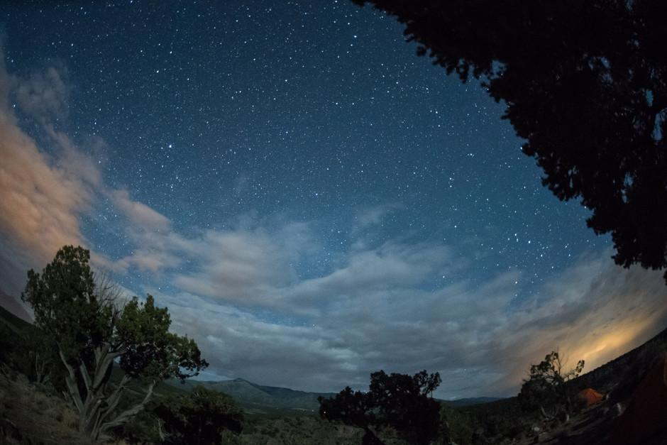 NASA (jsc2018e059929) Night sky in the Río Grande del Norte National Monument in June 2018.