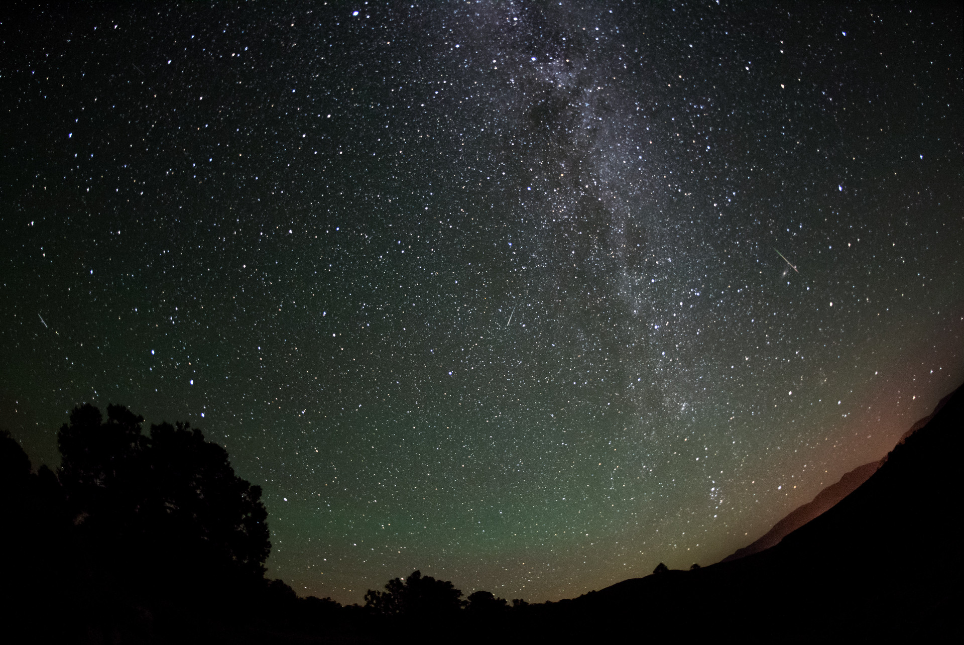 Shooting stars as seen in the Río Grande del Norte National Monument in June 2018.