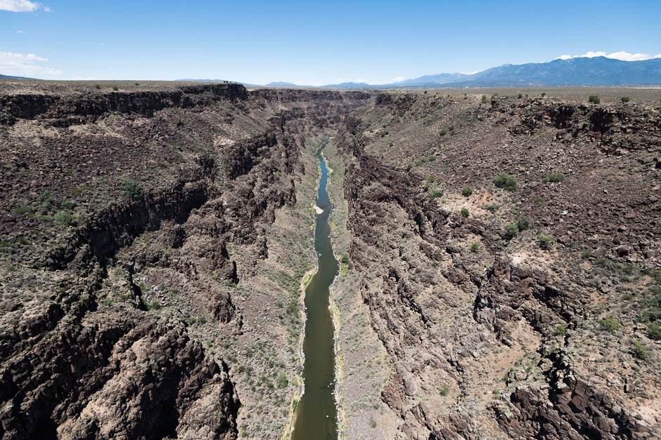 Photo taken from the Rio Grande Gorge Bridge in New Mexico