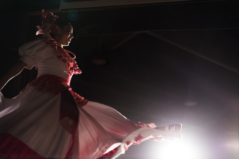 Dancers from the Ballet Folklorico Tapatio dance group