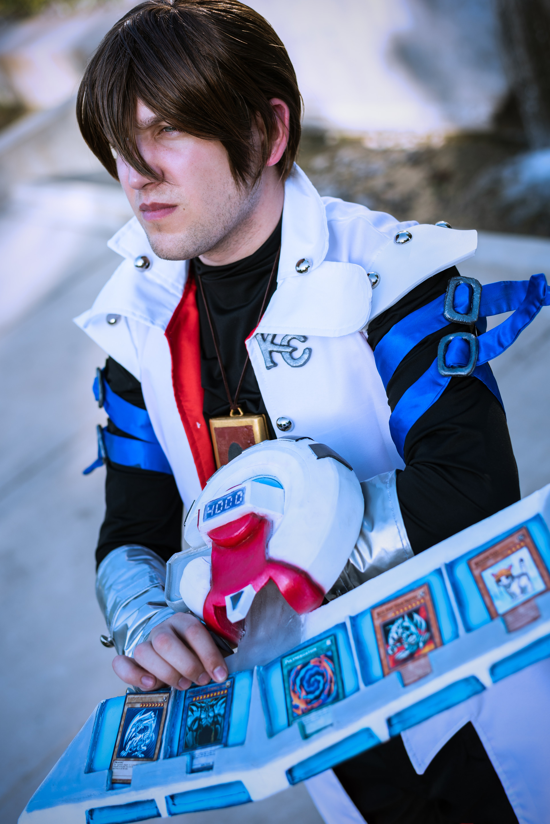 Seto Kaiba cosplayer, @syzygy_cosplay_, from Yu-Gi-Oh!