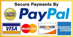We accept all credit cards and Paypal.