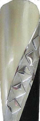 Pkg 36  Square Studs Silver #9540SL