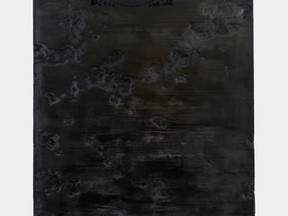Rendering III, 2016 Burnt wood 194 x 141 cm