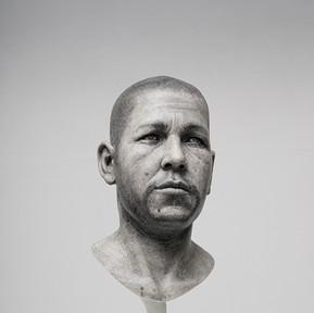 Simon Texture, 2013 Graphite on polyester 45 x 26 x 22 cm