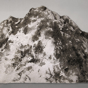 Snowy Mountain in Spring, 2016 Metal, epoxy, acrylic and cement 115 x 210 x 28 cm