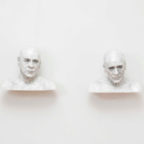 Do unpleasant people share similar features?, 2018 Graphite on resin Each 61 x 40 x 45 cm
