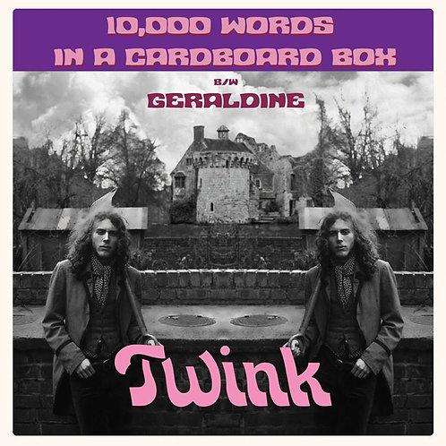 "TWINK ""10,000 Words In a Cardboard Box"" 7"""