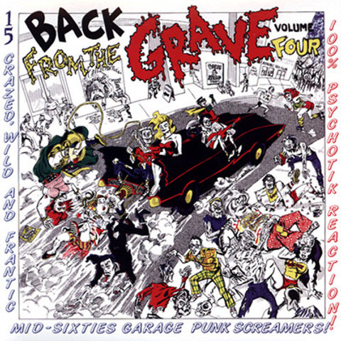 """V/A """"BACK FROM THE GRAVE"""" Vol. 4 Crypt LP"""